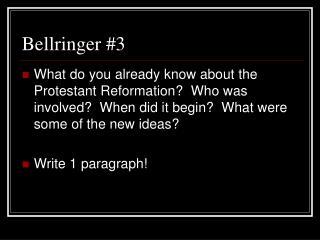 Bellringer #3