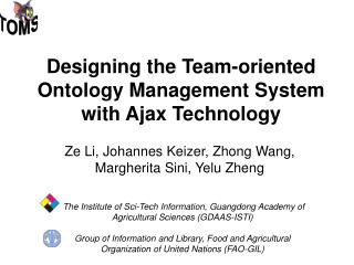 Designing the Team-oriented Ontology Management System with Ajax Technology