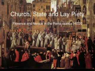 Church, State and Lay Piety