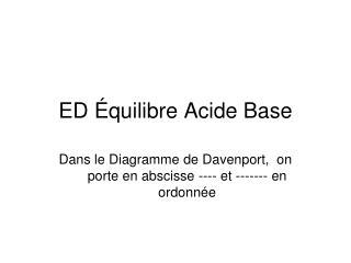 ED Équilibre Acide Base