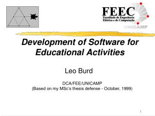 Development of Software  f or Educat i onal Activities