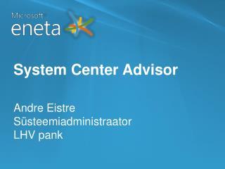 System Center Advisor