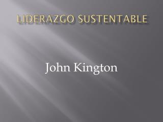 Liderazgo sustentable