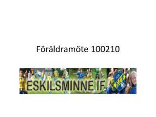 Föräldramöte 100210