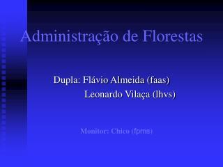 Administração de Florestas