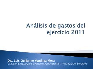 Análisis de gastos del  ejercicio 2011