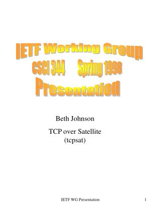 IETF Working Group