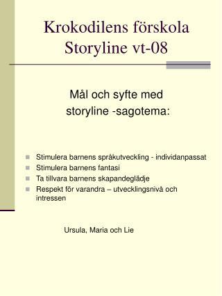Krokodilens f�rskola  Storyline vt-08