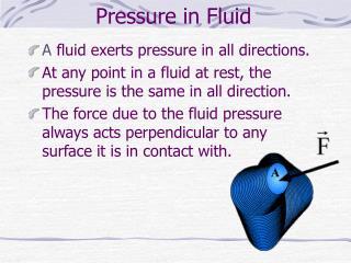 Pressure in Fluid