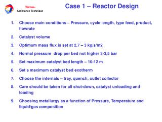 Case 1 � Reactor Design