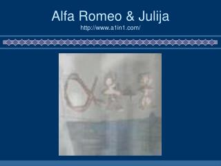 Alfa Romeo & Julija a1in1/