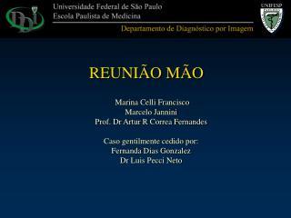 Marina Celli Francisco Marcelo Jannini Prof. Dr Artur R Correa Fernandes