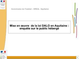 Automnales de l'habitat – DREAL  Aquitaine