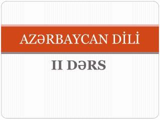 AZRBAYCAN DILI