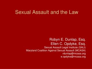 Sexual Assault and the Law