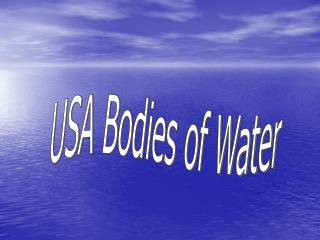 USA Bodies of Water