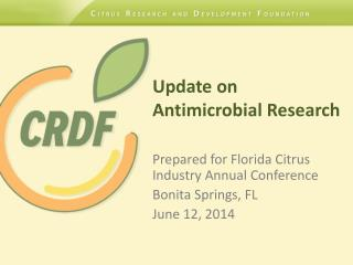 Update on  Antimicrobial Research