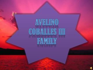 AVELINO  COBALLES  III  FAMILY