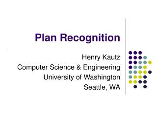 Plan Recognition