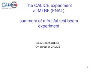 The CALICE experiment  at MTBF (FNAL) summary of a fruitful test beam experiment
