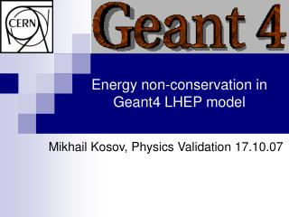 Energy non-conservation in Geant4 LHEP model