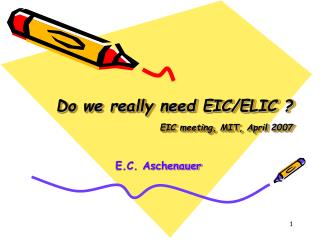 Do we really need EIC/ELIC ?  EIC meeting, MIT, April 2007