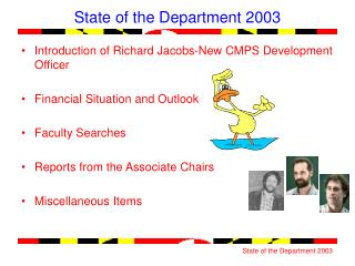 State of the Department 2003