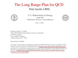 The Long Range Plan for QCD