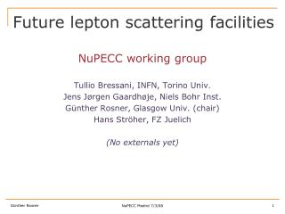Future lepton scattering facilities