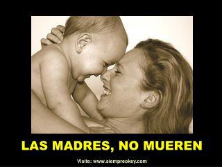 LAS MADRES, NO MUEREN