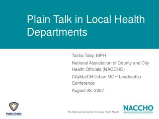 Plain Talk in Local Health Departments