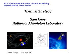 Thermal Strategy Sam Heys Rutherford Appleton Laboratory