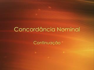 Concord ância Nominal