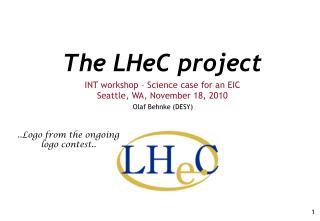 The LHeC project