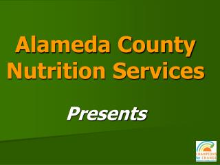 Alameda County Nutrition Services
