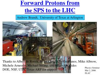 Forward Protons from  the  SPS to the LHC