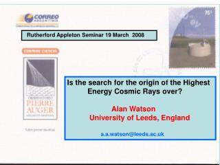 Rutherford Appleton Seminar 19 March  2008