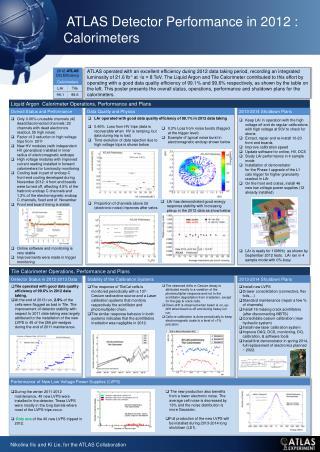 ATLAS Detector Performance in  2012  : Calorimeters
