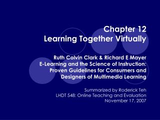 Chapter 12 Learning Together Virtually