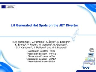 LH Generated Hot Spots on the JET Divertor