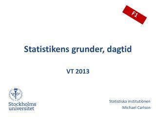 Statistikens grunder, dagtid