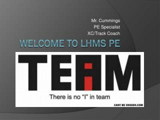 Welcome to LHMS PE