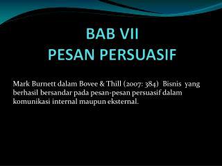 BAB VII PESAN PERSUASIF