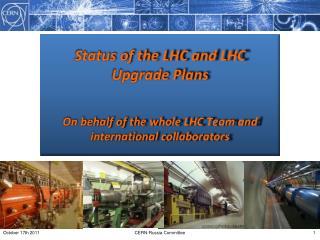LHC Status : 2011 – so far …