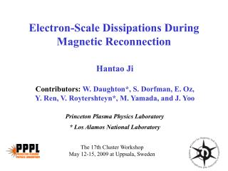 Electron-Scale Dissipations During Magnetic Reconnection