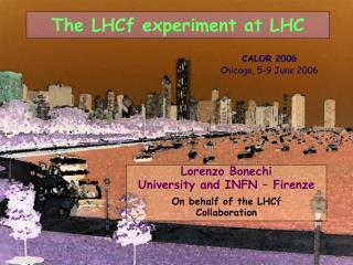 The LHCf experiment at LHC