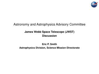 Astronomy and Astrophysics Advisory Committee