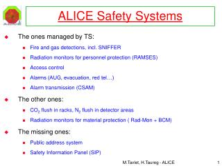 ALICE Safety Systems