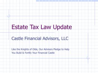 Estate Tax Law Update