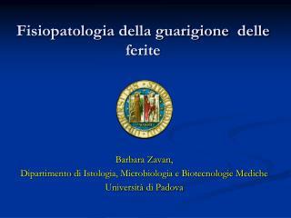 Fisiopatologia della guarigione  delle ferite